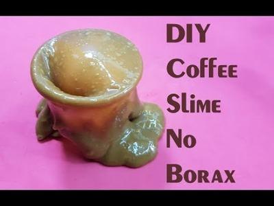 DIY Coffee Slime!! How to Make Coffee Slime