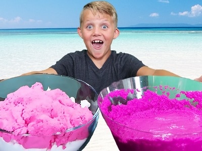 DIY Fluff Sand vs Real Sand FUN! Mermaid Slime & Mad Matter Experiment!