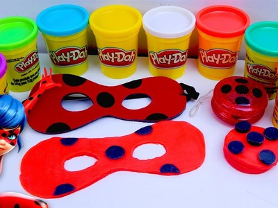 DIY How to Make Miraculous Ladybug Maks and Yo-yo With Play Doh