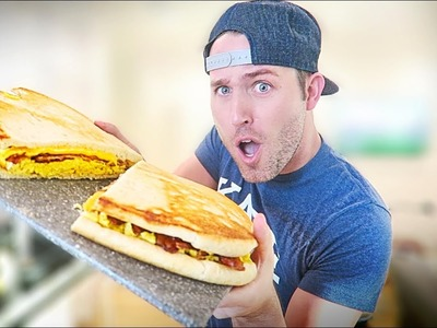 DIY MASSIVE BACON, EGG, & CHEESE BISCUIT. OVER 10000 CALORIES!!!