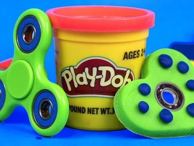 DIY Play-Doh Fidget Spinners. How to Make Fidget Spinner Toys for Kids