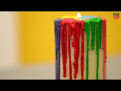 DIY Rainbow Candle From Crayons - POPxo