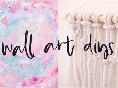 DIY Wall Art Pieces   Budget Gallery Wall Ideas, Home Decor for 2017