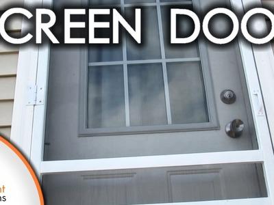 Easy DIY Wood Screen Door