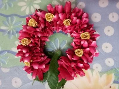 Easy method to string rose petals garland
