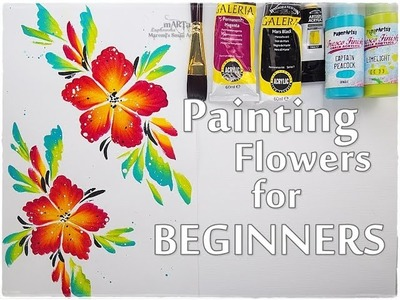 EASY Painting Acrylic Flowers for Beginners ♡ Maremi's Small Art ♡