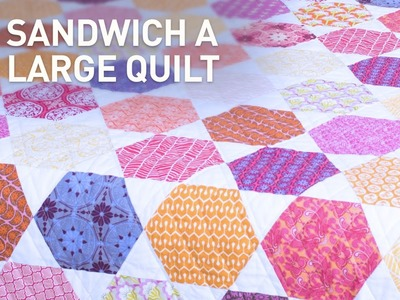 Easy Way to Baste (Sandwich) a Large Quilt | Quilting Tutorial with Amy Gibson