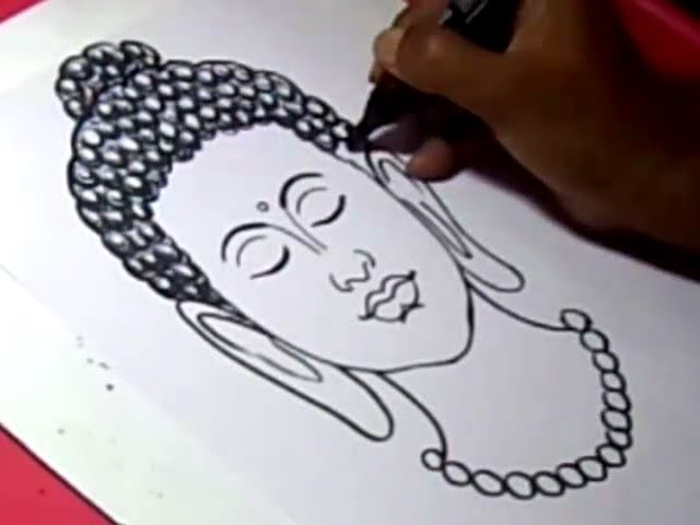 How to Draw LORD BUDDHA 2 DRAWING step by step for kids ...