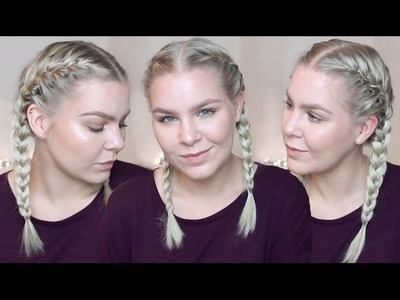 HOW TO FRENCH BRAID YOUR OWN HAIR FOR BEGINNERS • TALK THROUGH & REAL TIME | ShinyLipsTv