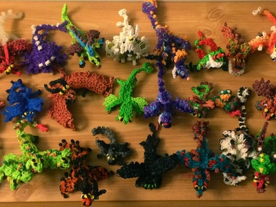 How to Loom Your Dragon COMPLETE COLLECTION of Baby Dragons from How to Train Your Dragon