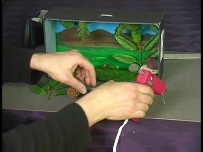 How to Make a Diorama : Adding Objects to Diorama Background