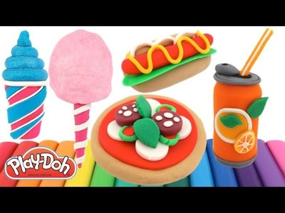 How to Make Mini Food with Play-Doh * Creative Fun For Kids * RainbowLearning