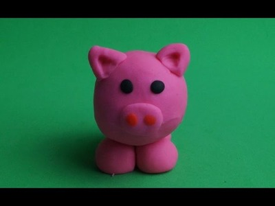 How to make Play Doh Pig; jogar massa. Blue Orange