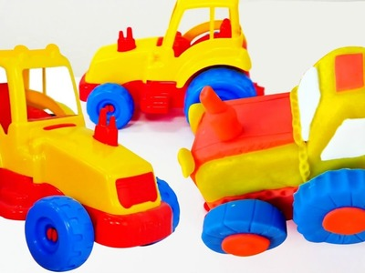 How to make Play Doh Tractor ????. Toys and videos for kids #PlayToyTV. DIY Play Doh ideas for kids.