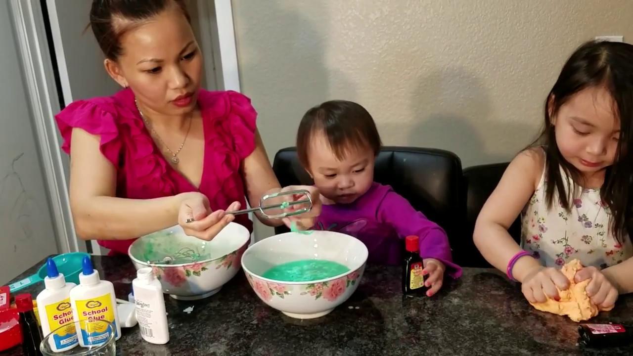 How to make slime   Easiest way to make slime   Best Slime   Make slime with children   Basic Slime