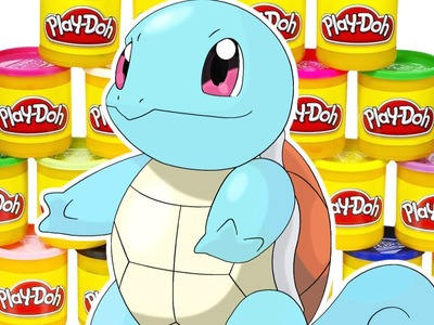 How To Make Squirtle from Pokemon Go out of Play Doh | DCTC Play Doh Videos