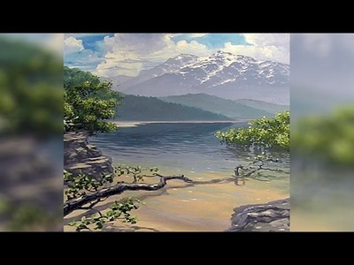 How To Paint A Landscape - Part 1 - Sketching & Clouds