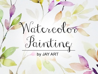 How to paint foliage in watercolor