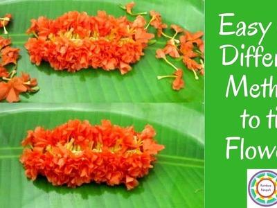 How to tie Kanakambaram | Firecracker flower string making