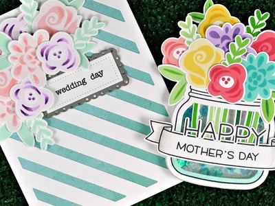 Intro to Fab Flowers + 2 cards from start to finish