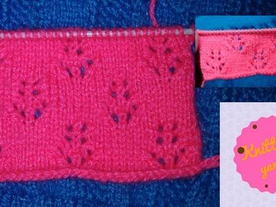 Ladies Cardigan flower design (Hindi)