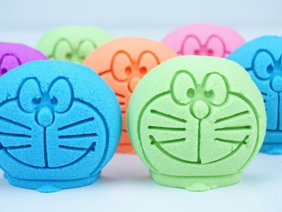 Learn Colors Kinetic Sand DIY Doraemon - SuperToys Galaxy Learn Colors DIY For Kids
