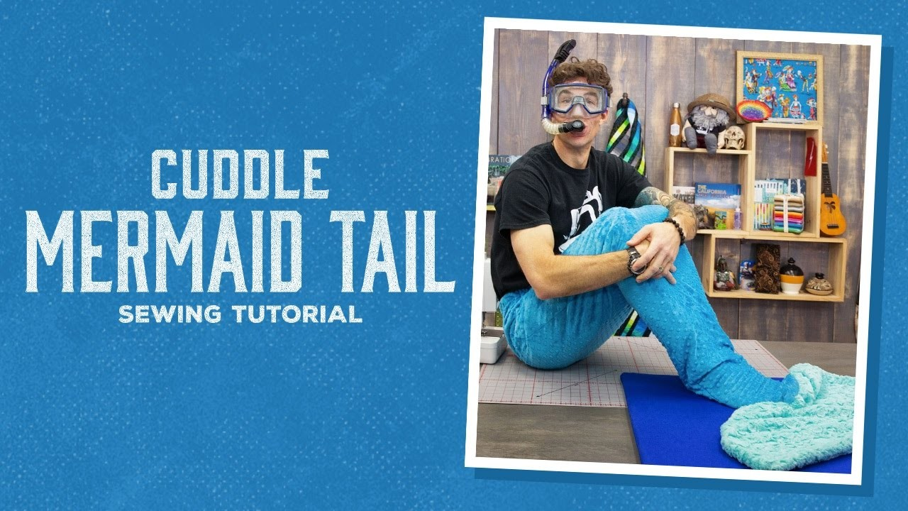 Make a Cozy Mermaid Tail Blanket with Cuddle Fleece