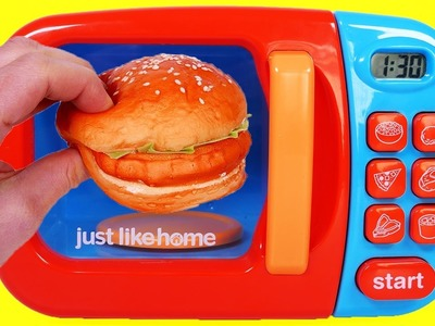 Microwave Hamburger Play Doh Toys Video for Children