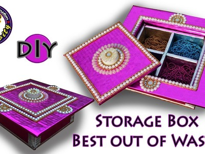 Multi Storage box | Gift box | DIY | Best out of waste | Art with Creativity 210