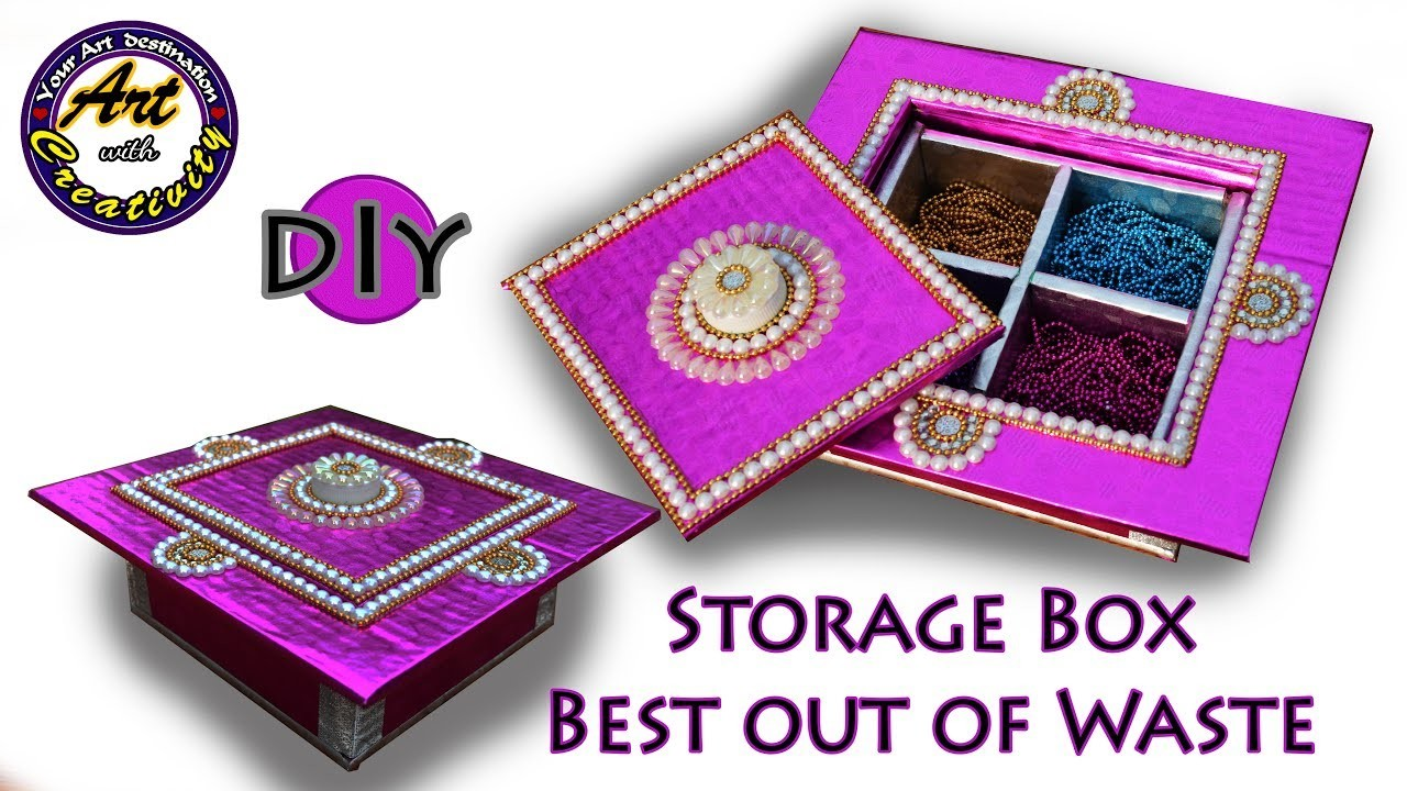 Multi storage box gift box diy best out of waste art for Best out of waste art