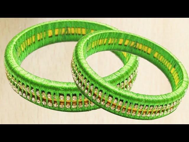 New silk thread pearl bangles Making || DIY || Silk thread pearl bangles