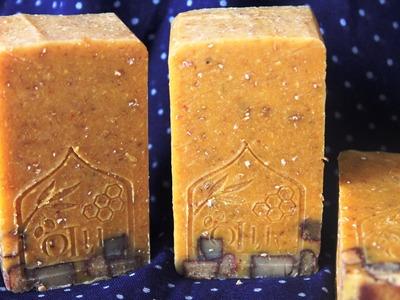 Oats, Milk & Turmeric Soap Making & Cutting