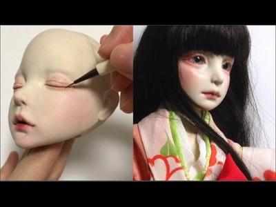 OOAK Art doll making process. clay bjd sculpture. 球体関節人形 制作過程