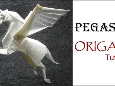 Origami Pegasus Tutorial (Fumiaki Kawahata) 折り紙 馬 ペガサス оригами учебник Пегас лошадь