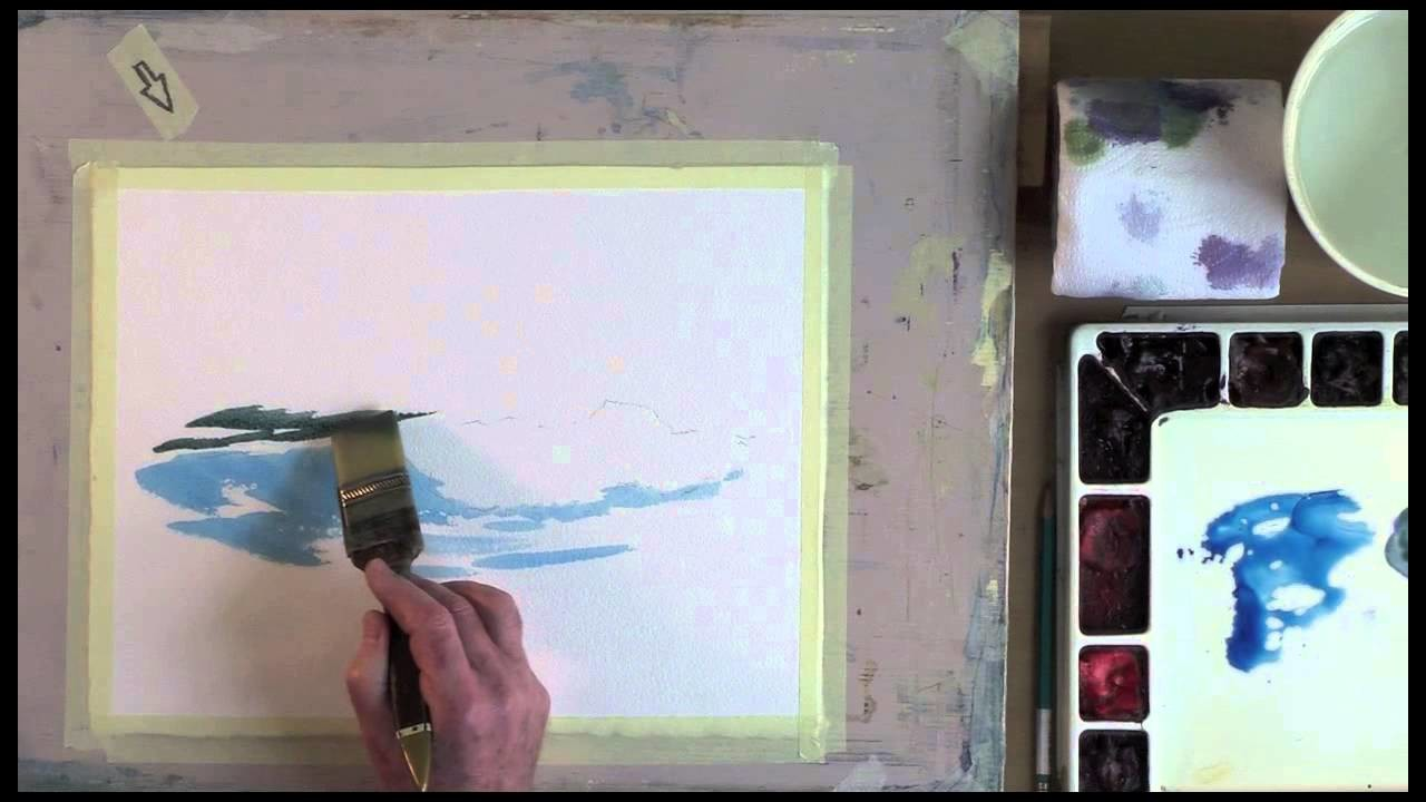 Painting a Breaking Wave in Watercolor