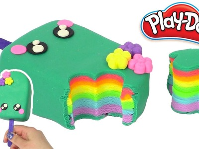 Play Doh Cake and Ice Cream Cute Popsicle Play Doh Rainbow Learning Diy Castle Toys