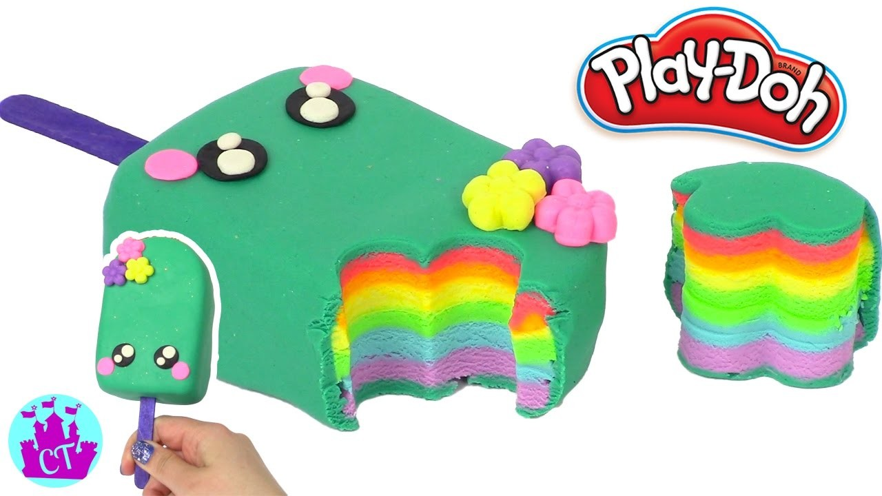 Cake Ice Cream Play Doh : Play Doh Cake and Ice Cream Cute Popsicle Play Doh Rainbow ...