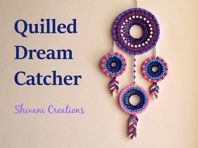Quilled Dream Catcher. DIY Dream Catcher