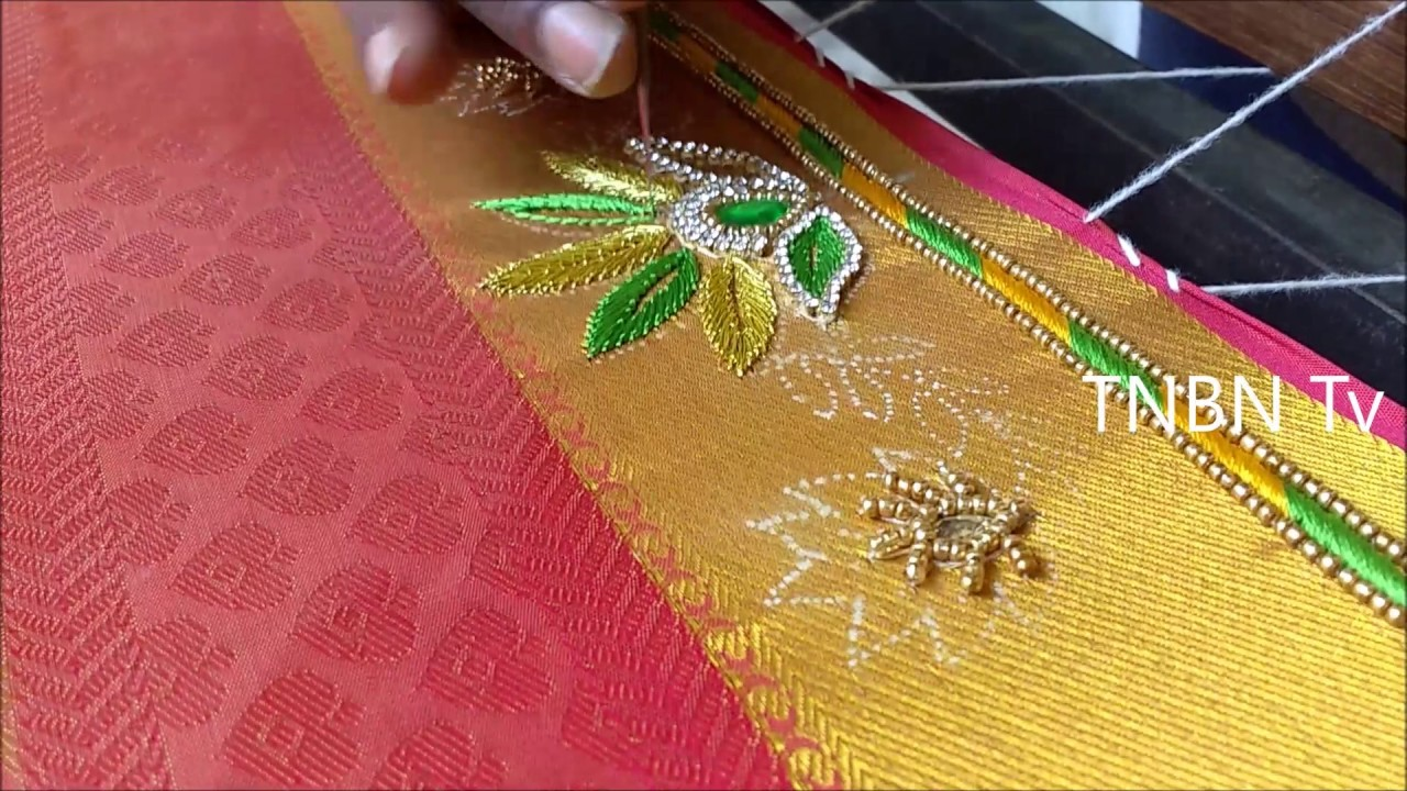 Simple Maggam Work Blouse Designs Hand Embroidery Tutorial For