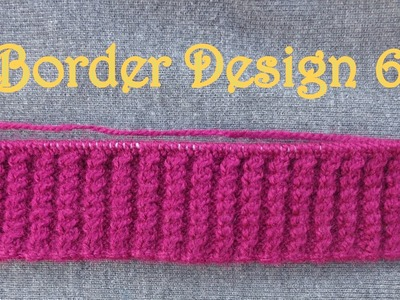 Sweater Border Design 6 (Hindi.urdu)