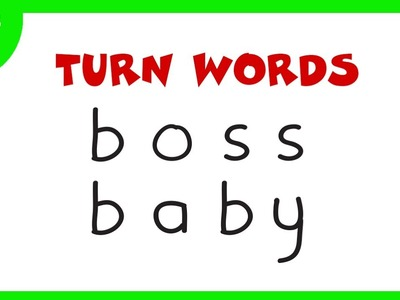 The Boss Baby | How To Turn Words BOSS BABY into Cartoons Boss Baby for kids – Wordtoons #32
