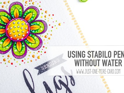 Using Stabilo Pens Without Water & Letterpress as a Stamp Positioner