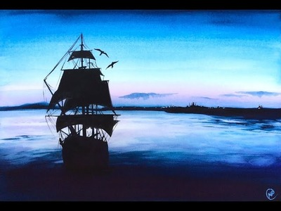 Watercolor Tall Ship Painting Demonstration