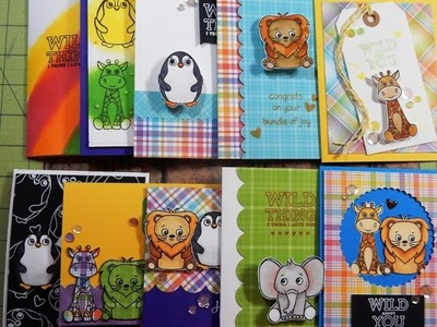 10 Cards 1 Kit | April 2017 Simon Says Stamp Card Kit | Wild & Colorful