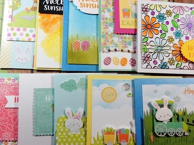 10 Cards 1 Kit | Limited Edition March 2017 Simon Says Stamp Card Kit | Hopping Along