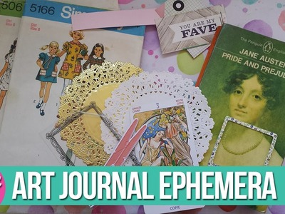 13 Easy Ephemera Ideas for Art Journaling