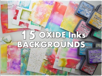 15 Oxide Background Ideas for Art Journaling & Mixed Media ♡ Maremi's Small Art ♡