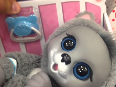 "ANIMAL BABIES NURSERY ""Baby Siberian Husky"" with Pacifier TOY REVIEW"