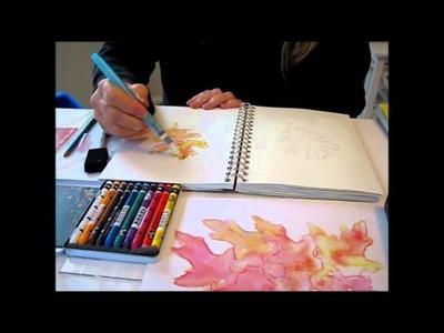 Art Journal Tutorial - Watercolor crayons