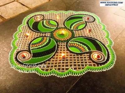 Beautiful Rangoli Part 2 | makar sankranti rangoli designs | rangoli designs 2017
